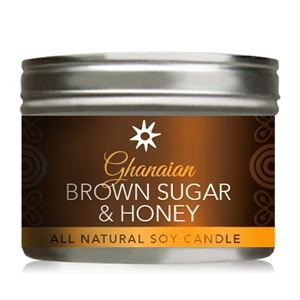 0004352 Ghanaian Brown Sugar Honey All Natural Soy Candle In Tin 300