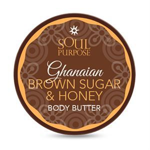 0007142 Ghanaian Brown Sugar Honey Body Butter 4 Oz 300
