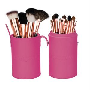 0007208 Mineral Makeup Brush Kit Pink Case 300