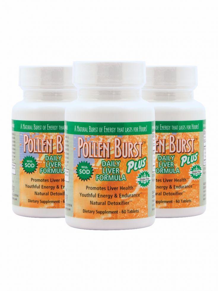 Pj417 Pollen Burst Plus Daily Liver Formula 3pack